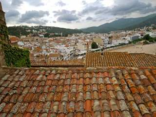 Tiled roofs of houses
