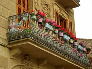 Decorated Floral Vintage Balcony