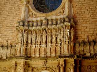 Montserrat. Facade of the monastery cathedral