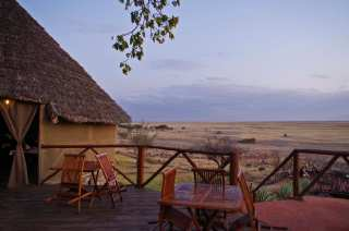 Civilized overnight stay in the desert of Tanzania