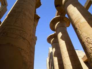 Columns of Karnak Temple Go To Sky