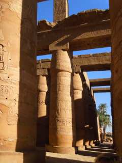 Labyrinths of the columns of the Karnak Temple