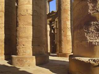 Columns of an ancient egyptian temple