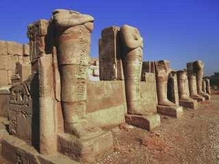 Ancient statues in Karnak temple