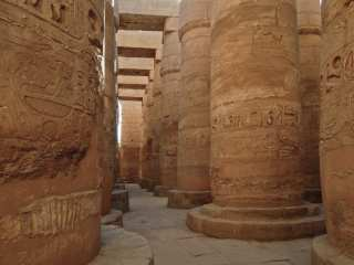 Giant Columns of Karnak Temple