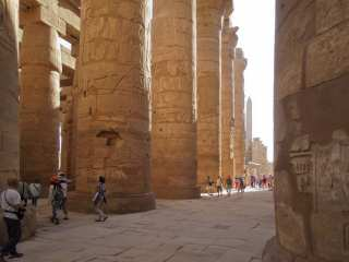Group of tourists at Karnak Temple