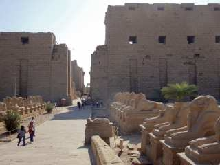 Before entering the Karnak Temple
