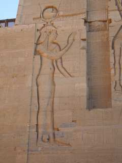 Wall figures in the temple of Isis