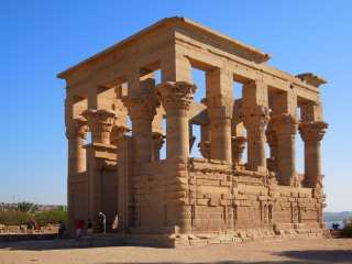 The oldest building of the temple of Isis