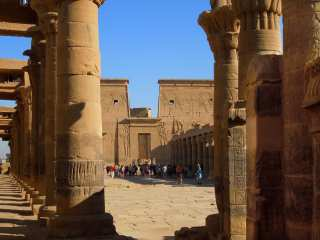 Compact development of the territory of the temple of Isis