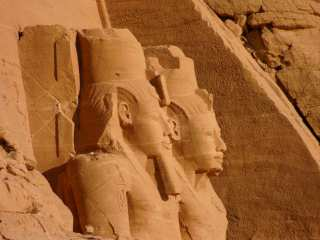 At the entrance to Abu Simbel