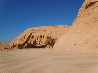 Abu Simbel Temple is located near Nasser Lake