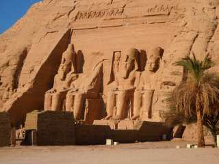 Abu Simbel - a temple carved into the rock