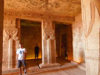 Inside the Hathor Temple, Nefertari in Abu Simbel