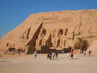 Tourists at the Abu Simbel Temple
