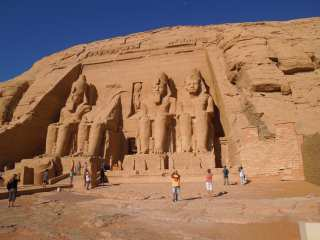 Abu simbel. Before entering the temple