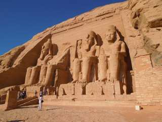 Carved from stone sculptures of Ramses II