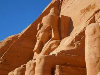 Abu Simbel. Sculpture of Ramses II