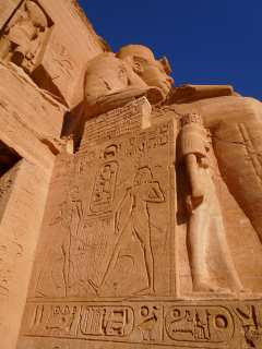 Abu simbel. The work of stone masters