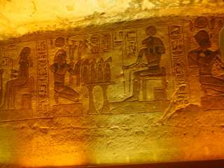 Abu Simbel. Wall painting by masters of the past