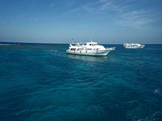 Pleasure boats in the Red Sea