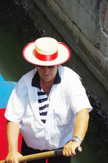 Elderly gondolier