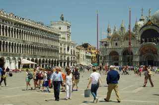 On Piazza San Marco in Venice