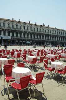 Cafes on Piazza San Marco await guests