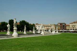 Statues around Prato della Valle in Padua