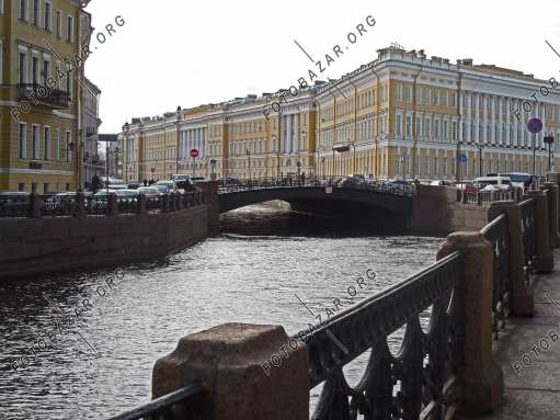 Embankment of the canal of St. Petersburg