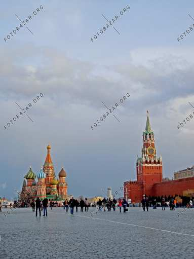 Cloudy weather on Red Square
