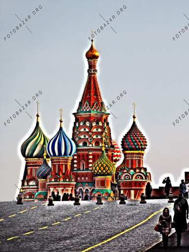 Bright colors of Red Square