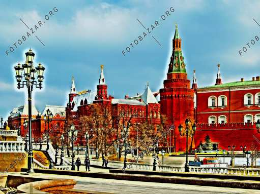 The historical buildings of the Kremlin