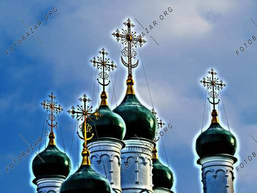 Green poppies of the Moscow church