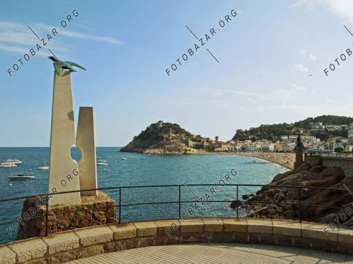 Memorial symbol on the coast of Tossa de Mar