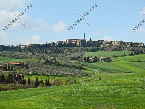 Settlement on a hill. Tuscany