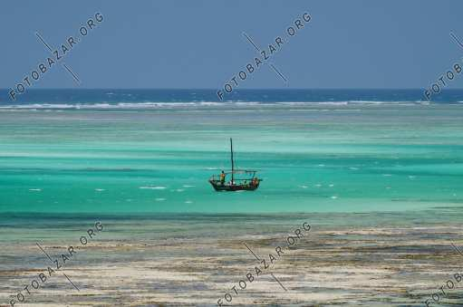 Fishing boat off the coast of Zanzibar