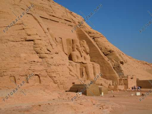Abu Simbel. Temple carved into the rock