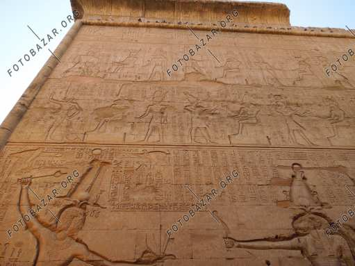 Space bas-reliefs on the walls of the Esna Temple