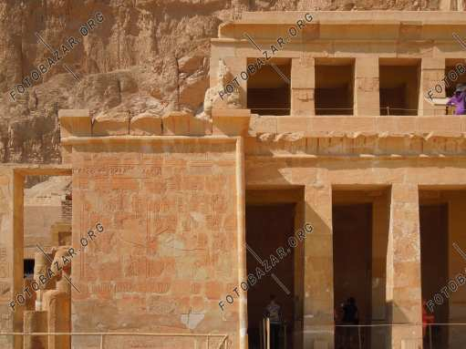 The left wing of the upper tier of Hatshepsut Temple